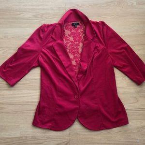 Womans Deb Pink Button blouse - Size 1x